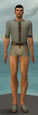 Dervish Elonian Armor M gray chest feet front