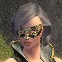 Mesmer Elite Luxon Armor F gray head front
