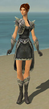 Elementalist Flameforged Armor F gray front