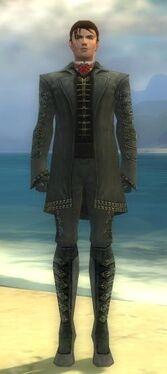 Mesmer Elite Enchanter Armor M gray front