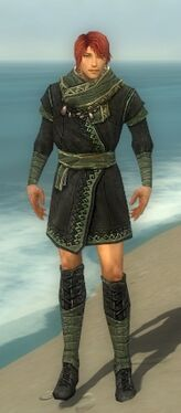 Mesmer Luxon Armor M gray chest feet front