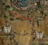 Toshau Sharpspear map