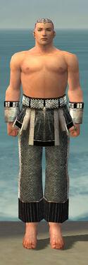 Monk Elite Sunspear Armor M gray arms legs front