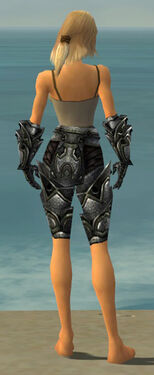 Warrior Obsidian Armor F gray arms legs back