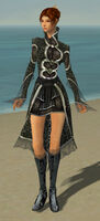 Elementalist Elite Canthan Armor F gray front