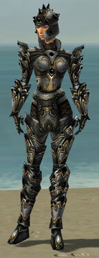 Warrior Obsidian Armor F dyed front