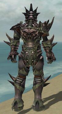 Warrior Primeval Armor M gray back