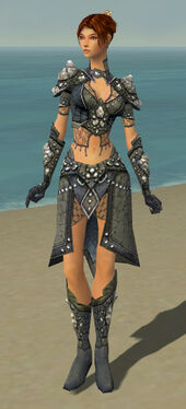Elementalist Elite Stoneforged Armor F gray front