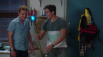 Zac and Cam with lighted trident