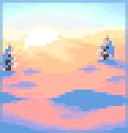 Background snowy sunrise