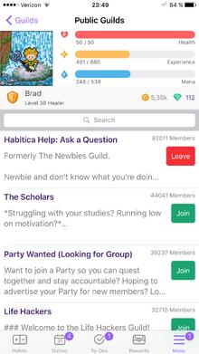 Public Guilds iOS