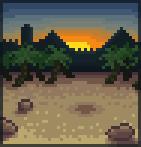 Background sunset oasis