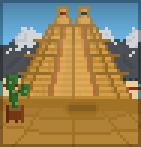 Background mountain pyramid