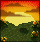 Background sunset meadow