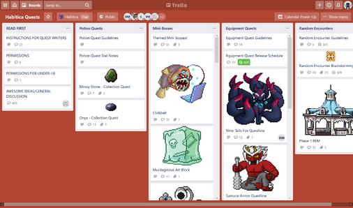 HabitRPG Quests Trello