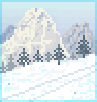 Background alpine slopes