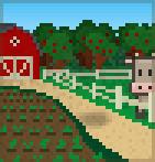 Background farmhouse