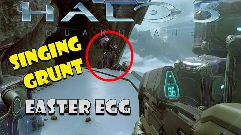 Halo 5 Singing Grunt Easter Egg