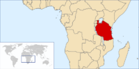 Location of Tanzania on Earth