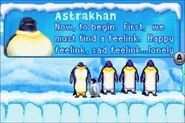 Mrs. Astrakhan with the elders in Happy Feet GBA Game