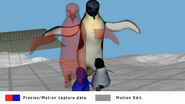 Motion capture data for Erik walking to his mother in Happy Feet 2 reel