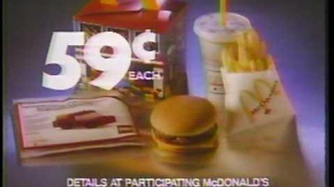McDonalds Lego Grampa 1986