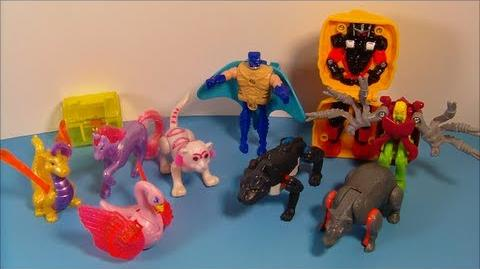1995 LITTLEST PET SHOP TRANSFORMERS SET OF 10 McDONALD'S HAPPY MEAL TOY'S VIDEO REVIEW