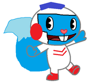 dig dug is and arcade charater and he drills through the underground and he pops the eniemies or smash them into a rock but in HTF form dig dug is a blue fox