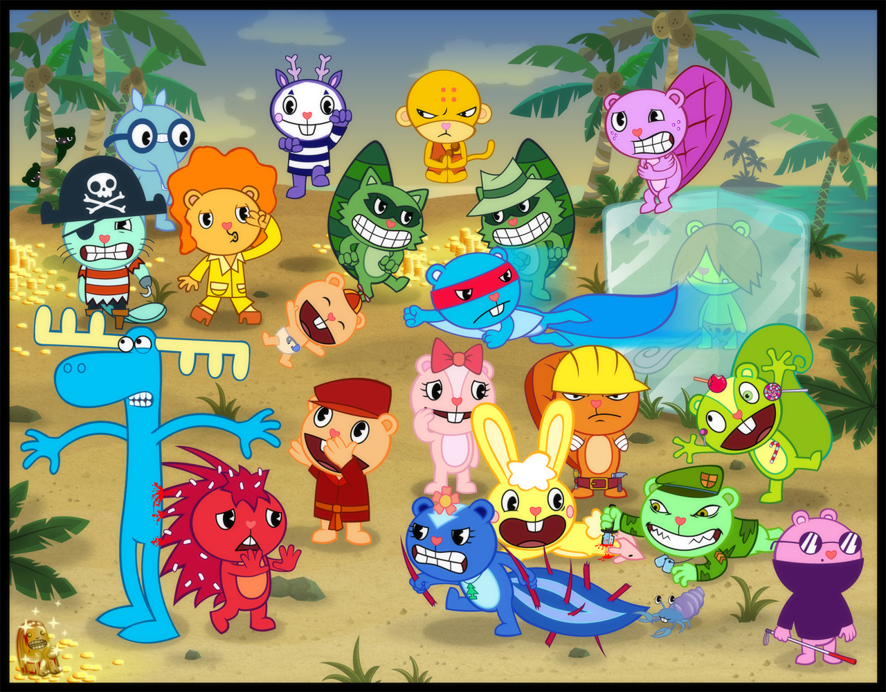 Free happy tree friends, volume 3: third strike dvd cover (2004) r2 german ready to download and print