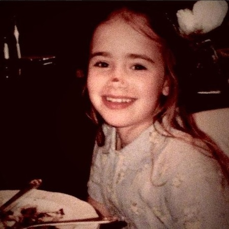 Image Lily Collins Awkward Childhood Photos Stylish Celebrities Baby Feature Baby News Handbag