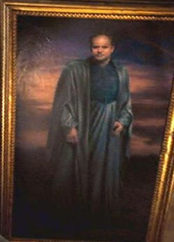 Portrait of a wizard in blue