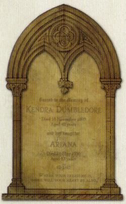 Kendra & Ariana Dumbledore Headstone - HPLE-G