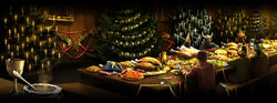 Christmas feast at Hogwarts