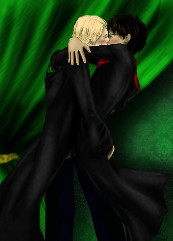 File:Drarry kiss by akane3196-d6mnaa1.png