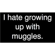I Hate Growing Up With Muggles