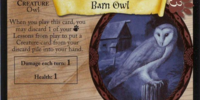 Barn Owl (Trading Card)
