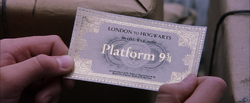 Harry Potter, Holding His Hogwarts Express Ticket