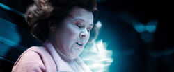 DH1 Dolores Umbridge hit by stunning spell