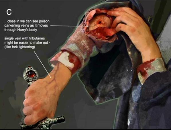 File:Harry's wound because of the bite of Slytherin's Basilisk 03.JPG