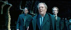 Auror Dawlish, Cornelius Fudge and Percy Weasley