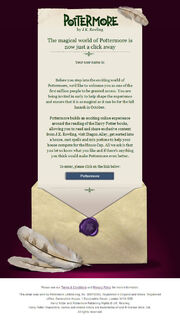 Pottermore Welcome email