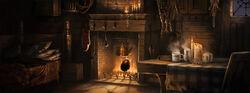 Inside of hagrid's hut