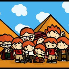 С семьей в Египте