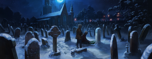 File:Godric's Hollow graveyard Pottermore.png