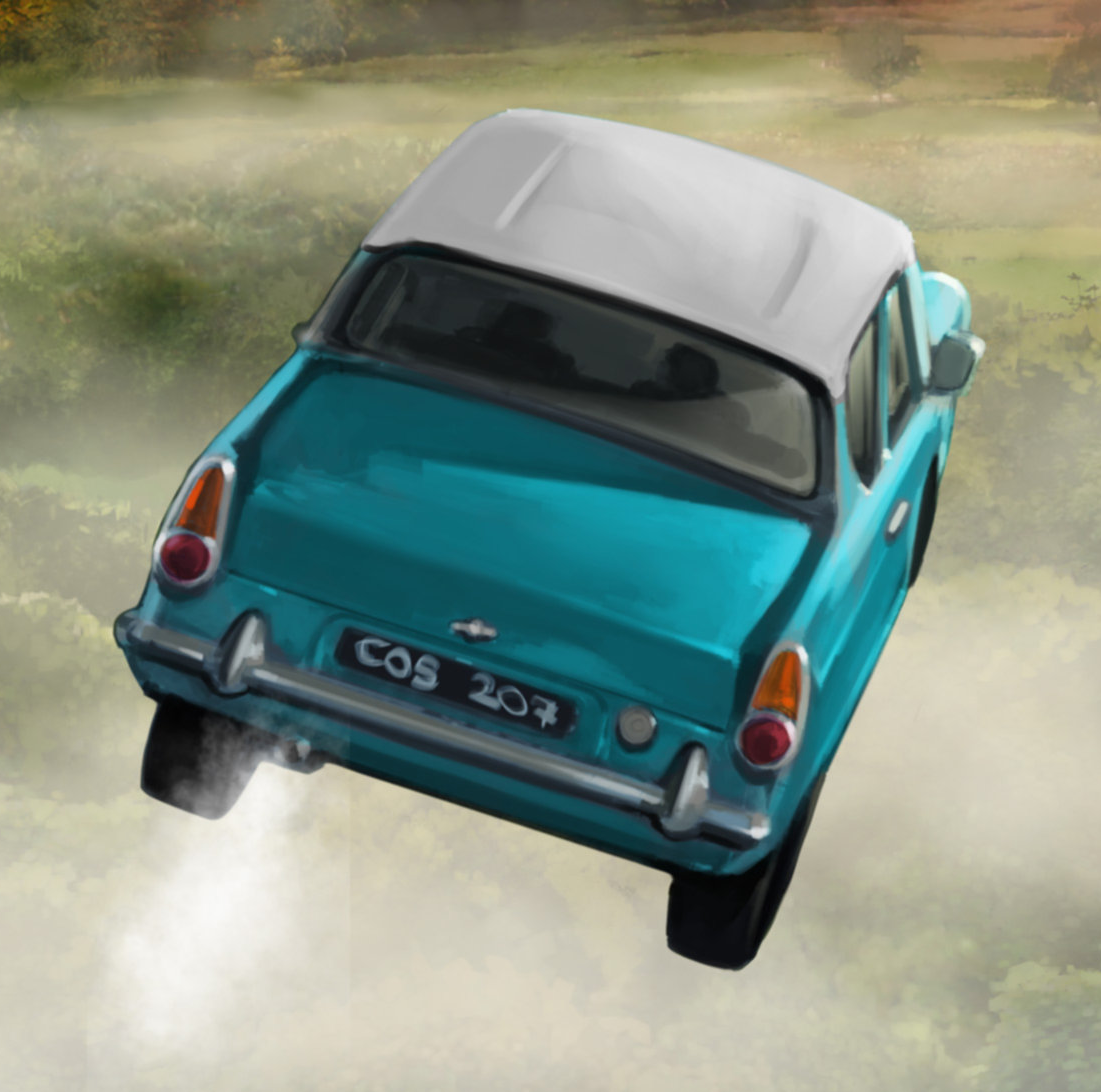 Flying Ford Anglia Harry Potter Wiki Fandom Powered By