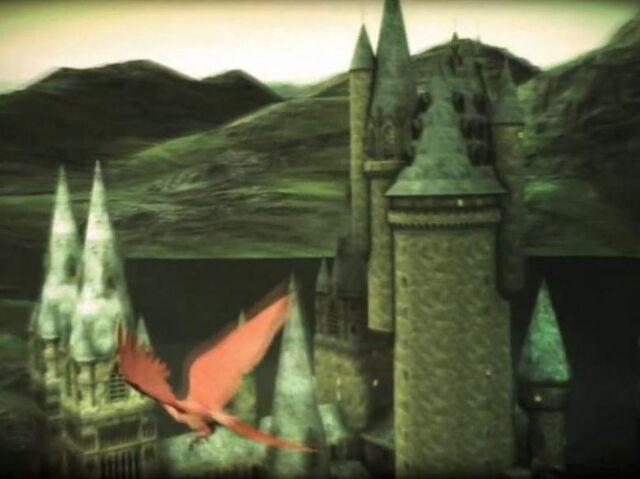 File:Fawkes flying outside Hogwarts Castle.jpg