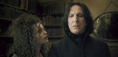 Bellatrix Lestrange and Severus Snape