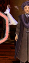 Ghost passing by in Quirrell's DADA lesson
