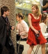 Harry Potter and Hermione Granger in a Muggle street of London