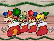 Super-Mario-Characters-In-Christmas-Socks-Wallpaper2-1024x768